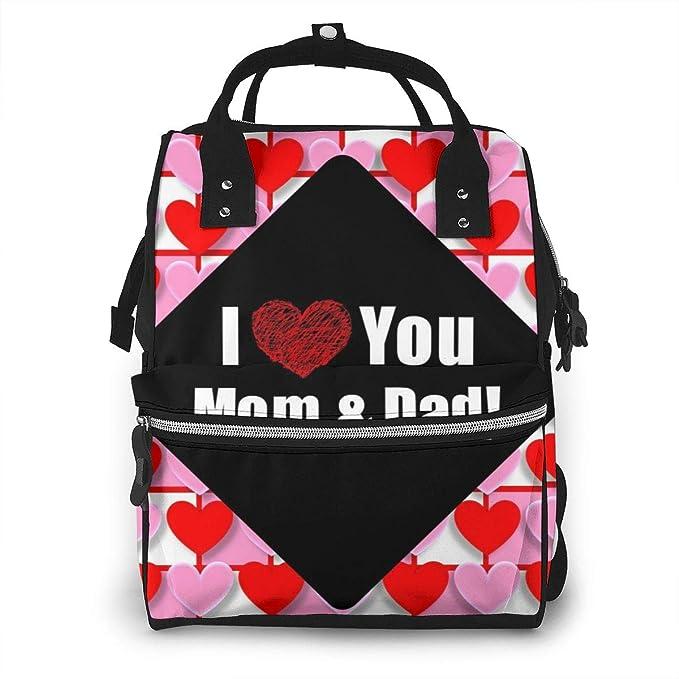 DKLSH Hearts Love Valentine - Mochila Impermeable para pañales Compartimento con Dos Bolsillos y Ocho Compartimentos Elegante y Duradera para los Pa
