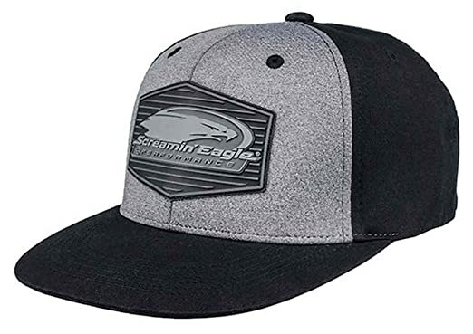 7569ca76 Harley-Davidson Men's Screamin' Eagle Tonal Flat Bill Flex Cap HARLMH0326  (L/
