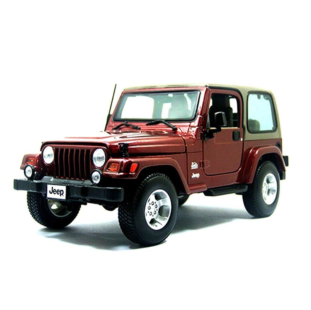 Auto Modello Modello Auto Jeep Wrangler Modello in Scala 1 18 Modello Die-Casting Modello in Lega Modello Collezione Gioielli Regalo Decorativi (colore   Rosso)