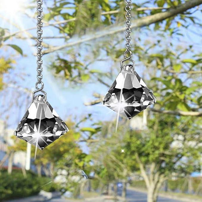 SunAngel Clear Jewelry Crystals Pendants &Chandelier Suncatchers Prisms Hanging Ornament Octogon Chakra Crystal Pendants (Clear)