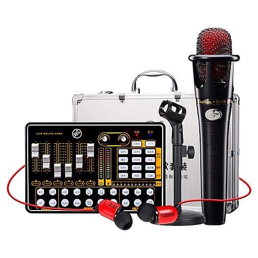LCY-YCY Tarjeta de Sonido Conjunto de micrófono Teléfono ...