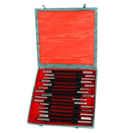 stk e shop  STK e-Shop - Set di 15 ceselli per acciaio e pietra: : Casa ...