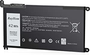 RayHom WDX0R Laptop Battery for Dell Inspiron 15 5565 5567 5568 5578 7560 7570 7579 7569 P58F Inspiron 13 5368 5378 5379 7368 7378 Inspiron 14-7460 Inspiron 17 5765 5767 FC92N 3CRH3 T2JX4 CYMGM