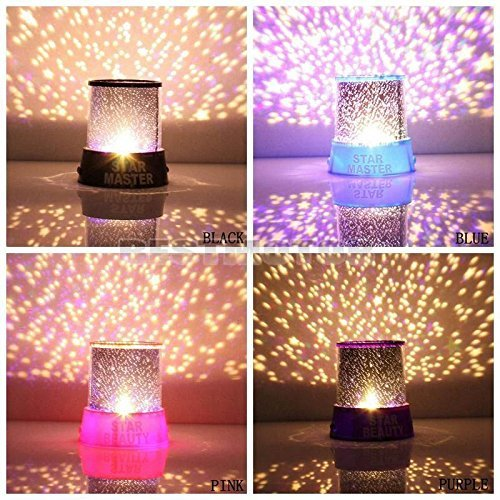 Generic Colorful Twilight Romantic Sky Star Master Projector Lamp Starry LED Night Light Kids Bedroom Bed Light for Christmas Light (Purple)