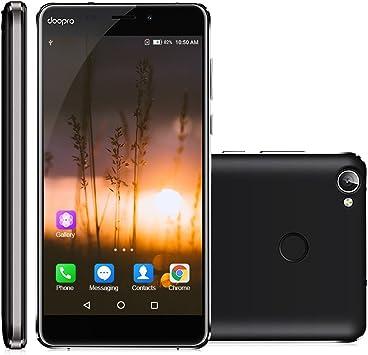 Doopro C1 Pro 4G Smartphone Libre, 5.3 Pulgadas 1280 x 720 Pixel HD Pantalla, Android 6.0, 2GB RAM + 16GB ROM, Dual Cámara 5.0MP + 13.0MP, Batería 4200mAh, Huella Digital, Color Negro: Amazon.es: Electrónica