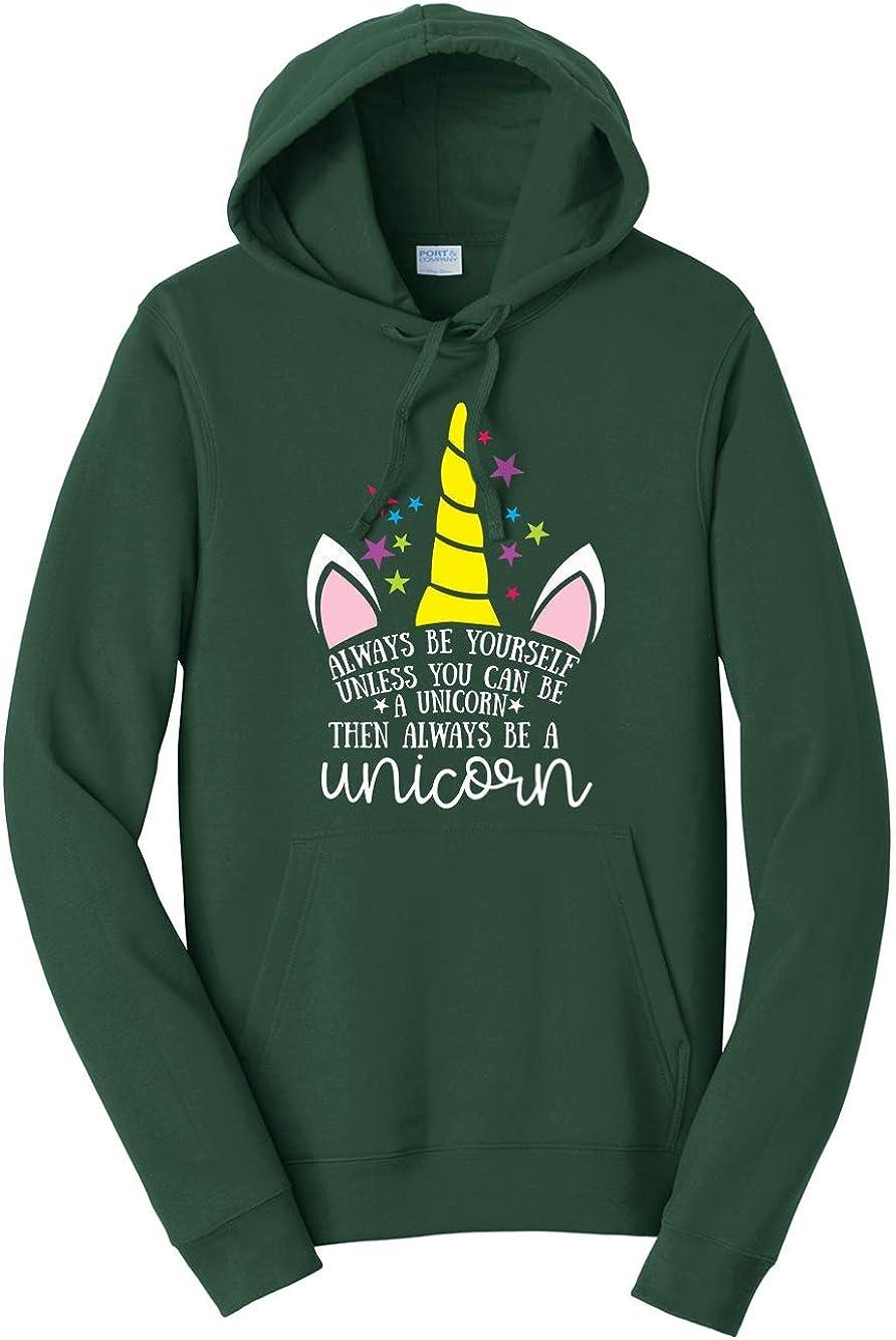 Tenacitee Mens Always Be A Unicorn Hooded Sweatshirt