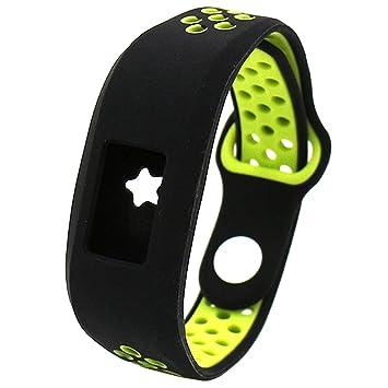 El-move - Correa de repuesto para reloj inteligente Garmin Vivofit, silicona suave,