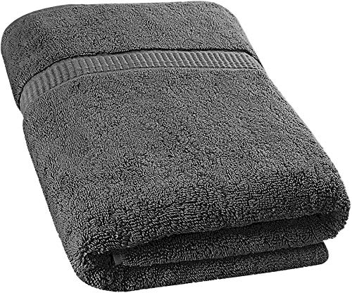 Utopia Towels Extra Large Bath Towel(35 x 70 Inches) - Luxury Bath Sheet - Grey