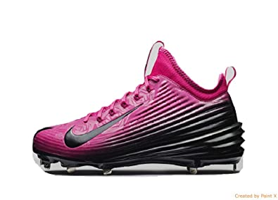 Nike Lunar Vapor Mike Trout Mothers Day Pink Metal Baseball Cleats BCA  (Size 12.5)