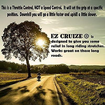 EZ Cruize - Motorcycle Cruise Control - Universal Throttle Assist - Wrist / Hand Grip Lock Clamp - Harley, Honda, Suzuki, Yamaha, Kawasaki, Indian, Triumph, Ducati, Aprilia, KTM, BMW (Blue): Automotive