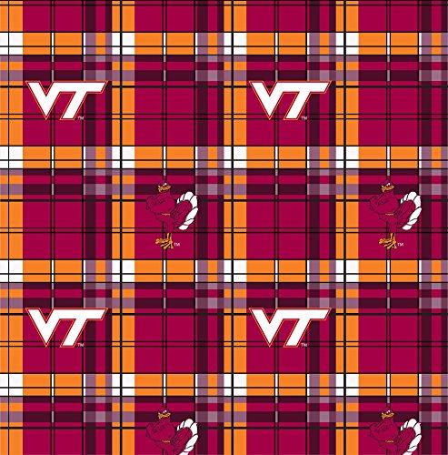 Virginia Tech Fleece Blanket (VIRGINIA TECH FLEECE BLANKET FABRIC FABRIC-VIRGINIA TECH PLAID FLEECE FABRIC-SOLD BY THE YARD)