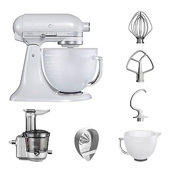 KitchenAid Robot de cocina fop Conjunto   Artisan 5 ksm156efp Licuadora del paquete  , incluye Licuadora vorsatz, Exprimidor y accesorios estándar (Frosted ...
