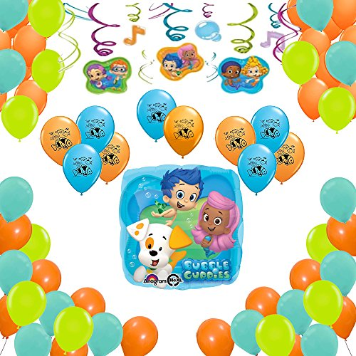 Bubble Guppies Party Supplies Birthday Balloon Decorations 40 Count ()