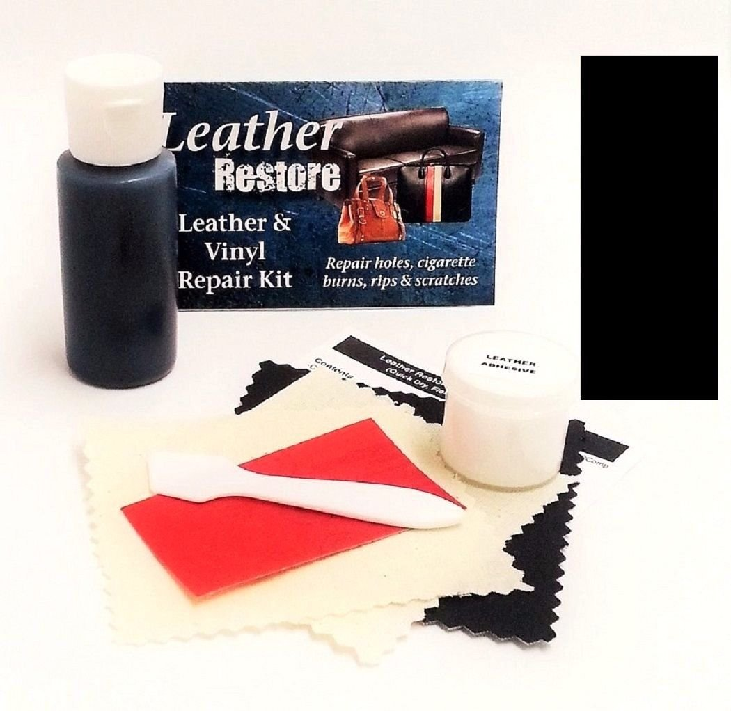 Leather Repair Kit with READY TO USE Color, BLACK Leather Restore