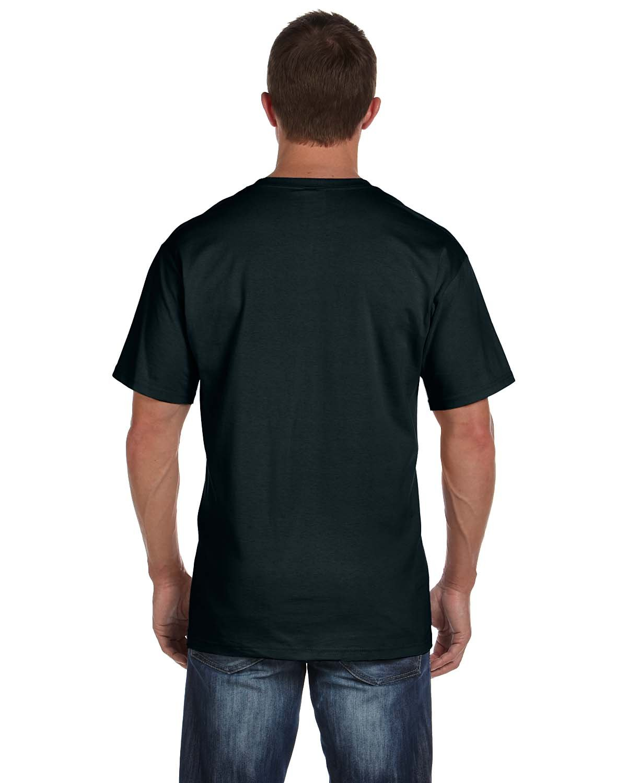 Fruit Of The Loom Men's 6-Pack Pocket Crew-Neck Black T-Shirt (Black - 6 Pack, XXX-Large)