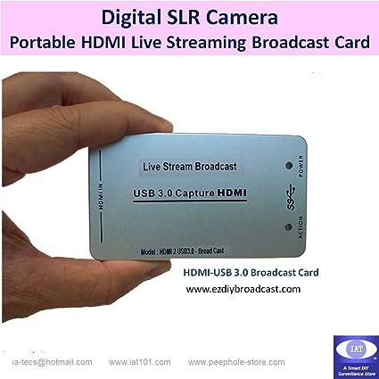 Amazon com: Mobile Live Stream Broadcast card for DSLR