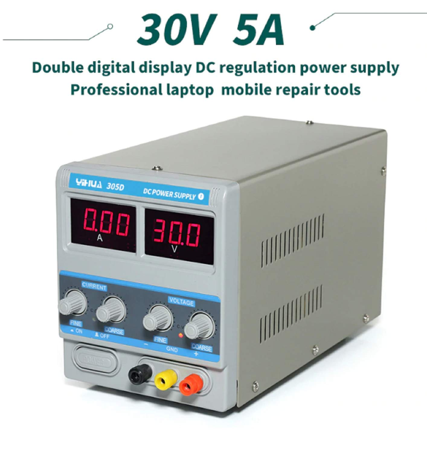 Yihua Digital 30v 5a Dc Power Supply Variable Regulated Adjustable Mobile Repair Short Circuit Diy For Electronics Projects Repairing Board Machine Phone Volt Amp