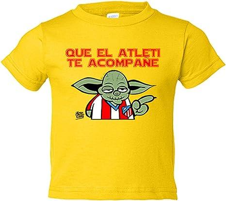 Camiseta niño Atlético de Madrid Que el Atleti te acompañe - Amarillo, 3-4 años: Amazon.es: Bebé