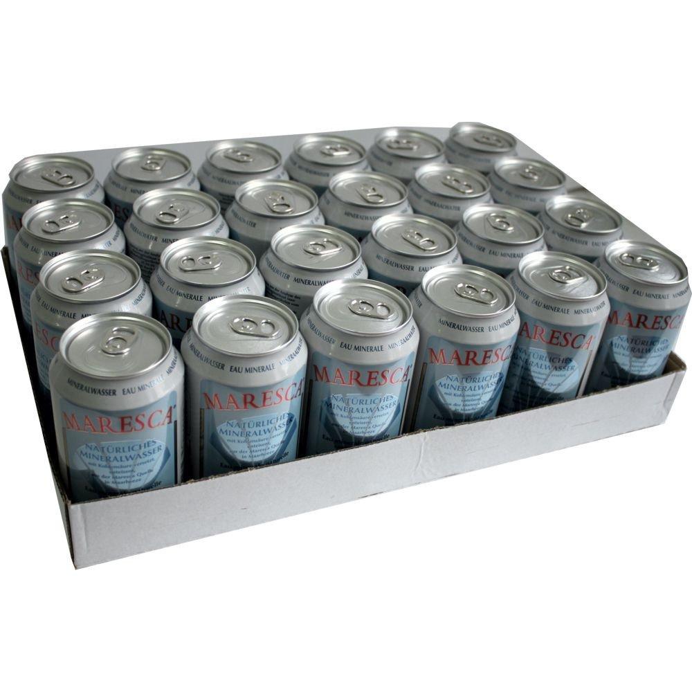 72 x Maresca Sparkling Water cans 72 x 0,33 Liter