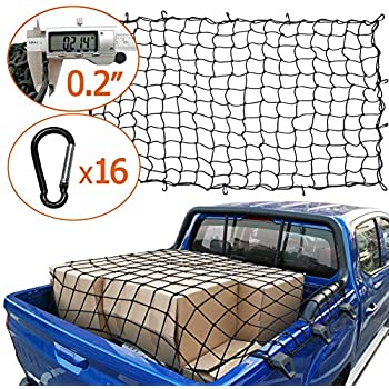 "Cargo Net Bed Tie Down Hooks for Nissan Frontier Mid Size Long Bed 60/"" x 98/"" NEW"