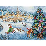 Brand New Gold Collection Winter Celebration Counted Cross Stitch Kit-16 quot; quot;X12 quot; quot;