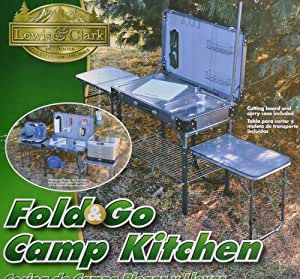 portable camp kitchen with sink lewis amp clark folding camp kitchen portable 7551