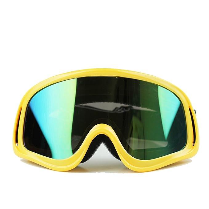 WDAKOWA Motocicletta Antivento Antipolvere Occhiali Offroad Sci Occhiali Da Sole,Green-1