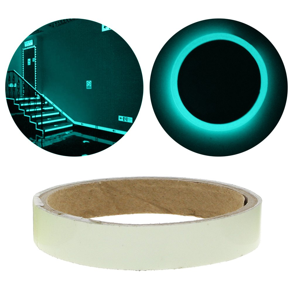 WXLAA 1.5cm1m Luminous Fluorescent Night Self-adhesive Glow In The Dark Sticker Tape Blue Green