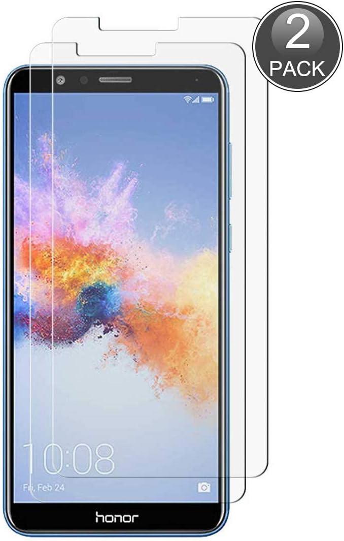 E-Hamii [2-Pack Protector de Pantalla Compatible con Huawei Honor 7X, 0.26mm HD Anti-Scratch y Anti-Huella Digital Proteger la Película, 9H Vidrio Templado Protectora[Sin Burbujas]: Amazon.es: Electrónica