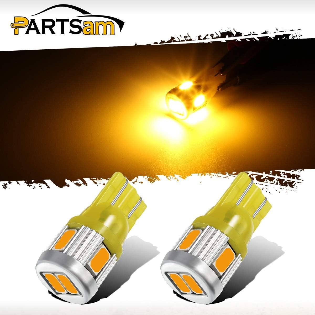 2x 501 Quad LED 12V White Sidelight Bulbs Parking car Courtesy Glovebox Light