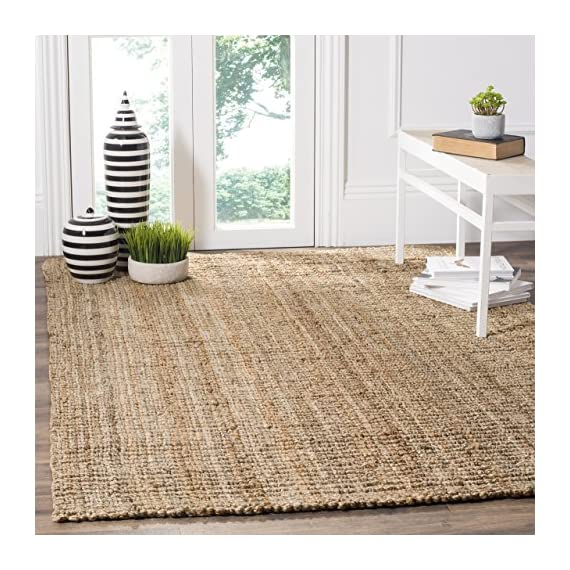 Safavieh Natural Fiber Collection NF447B Hand Woven Purple Jute Runner - Construction Hand Woven Fiber/Finish 100% Jute Pile ITEM WEIGHT 12.00 - living-room-soft-furnishings, living-room, area-rugs - 61mXYE3SyKL. SS570  -