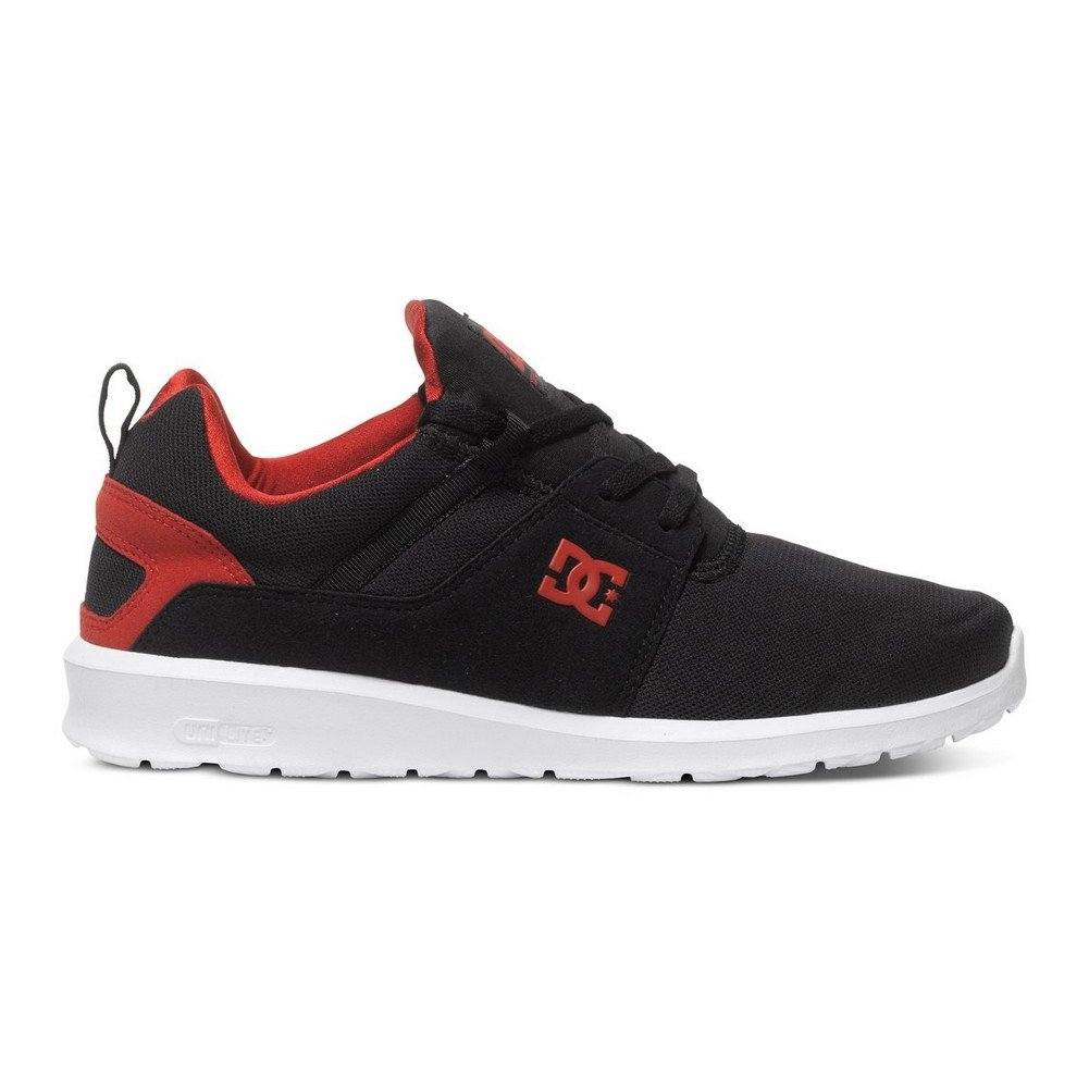 DC Men's Heathrow Skate Shoes, Black/Red, 8.5 M US