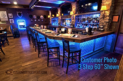 3 Tier LED Lighted Bar Shelves - Low Profile Style (24'' Length) by Customized Designs (Image #5)