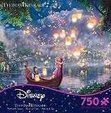 Thomas Kinkade Disney Dreams - Tangled 750 Piece Jigsaw Puzzle 24 x 18in
