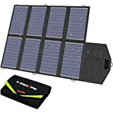 X-DRAGON Solar Charger, 40W Solar Panel Charger (5V USB with SolarIQ + 18V DC) Water Resistant Laptop Charger Compatible with Cellphone, Notebook, Tablet, iPhone, Android, Camping, Portable Generator