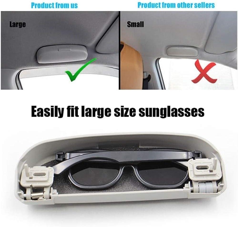 Sonnenbrillenaufbewahrung Car Styling Zubeh/ör Sonnenbrillen Inhaber Brille Aufbewahrungsbeh/älter-Kasten for Mitsubishi ASX Lancer Outlander Challenger Nativa F/ür Autos Color : Grey