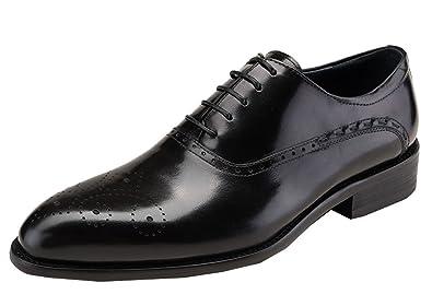 finest selection 97fda 4039e Dilize Herren Wingtip Oxford Budapester-Stil Schuhe in Echt ...