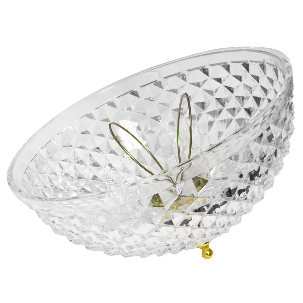 Evelots Antique Clip On Shade, Vintage Diamond Cut Acrylic Dome Light Bulb Fixture by Evelots (Image #3)