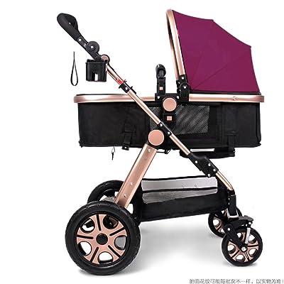 QWM-Baby bicyclettes enfants Le port de bébé nouveau-né pliable peut s'asseoir et s'allonger Panier de bébé amorti pour 1 mois -3 ans Bébé Deux voies à quatre roues &Eac