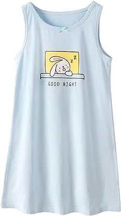 BLOMDES camisón para niñas Ropa de Dormir de algodón de Flores por 3-12 años