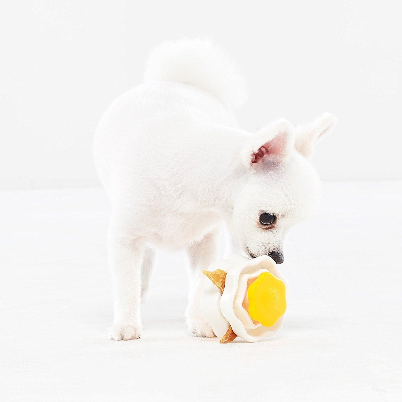 Blackhole Litter Mat Yogi Food Clip for Fun with Dog Treats, Food Dispenser Toy for Slow Feeding Pet (orange)