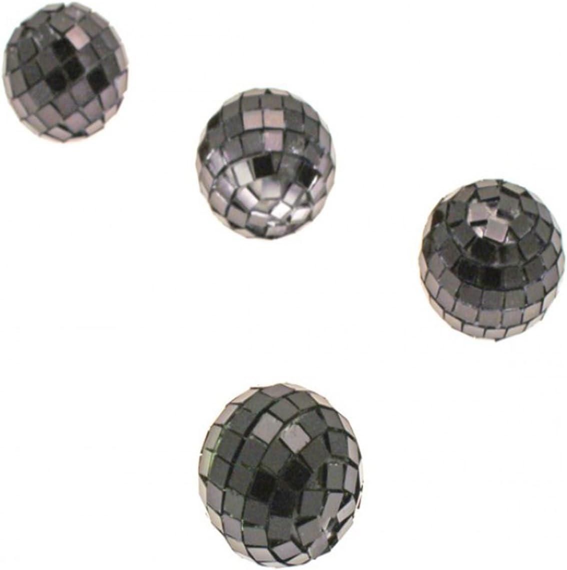 3,5 cm Visiodirect Lot DE 40 Mini Boules /À facettes Coloris Turquoise