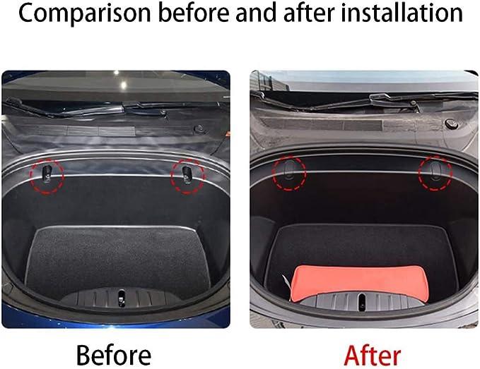 Pqzatx Haken Clip Bolzen Abdeckungen Vordere Koffer Raum Tasche Fracht Haken Abdeckung Passend Für Tesla Model 3 Schwarz Auto