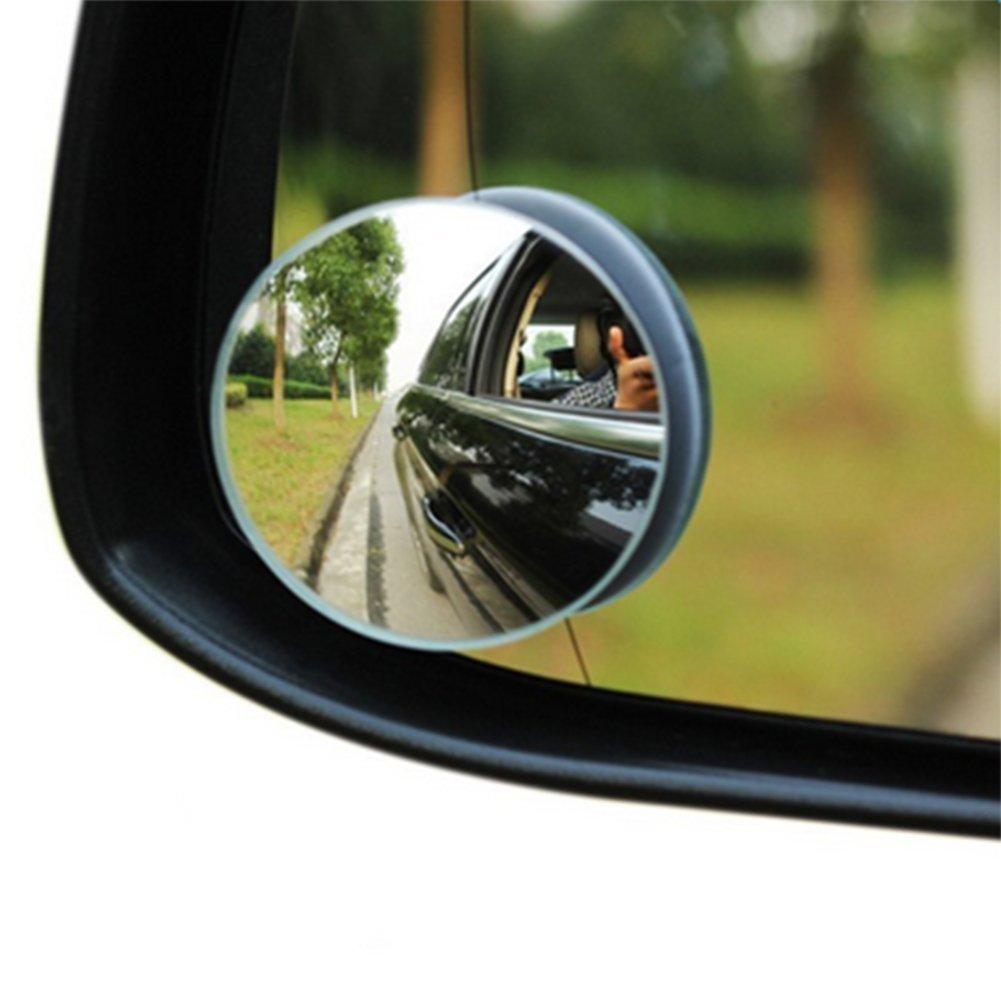 VI yo 2/pcs 50/mm coche lado espejo convexo gran angular 360/ajustable Ronda pared de visi/ón trasera punto ciego espejos