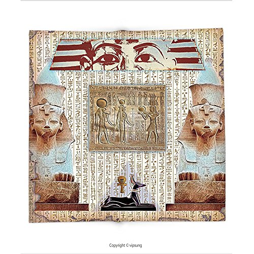 Custom printed Throw Blanket with Egypt Decor Eastern Heritage Ancient Egyptian Pharaoh Mummy Coffin Portrait Art Print Taupe Redwood Super soft and Cozy Fleece (Halloween Mummy Pigs Blanket Recipe)