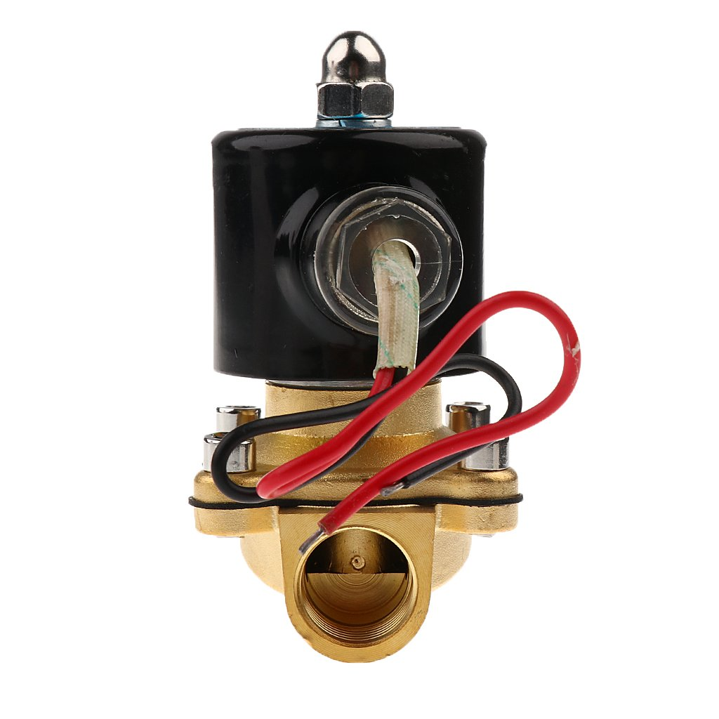 Baoblaze Vanne /Électrique /Électrovanne Sol/éno/ïde Valve Deau Air Fuels Gas Normal Ferm/é 12V DC 1//2