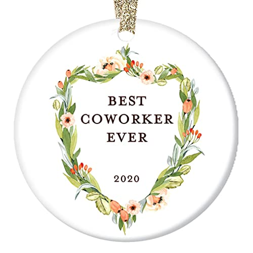 Best Coworker Christmas Gifts 2020 Amazon.com: Coworker Gifts, Best Coworker Ornament, Floral Crest