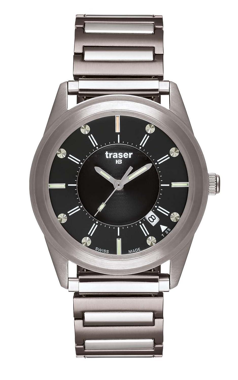 Traser Translucent Black Stahl-Flexband L-M