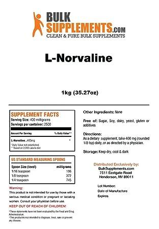 BulkSupplements L-Norvaline Powder 1 Kilogram