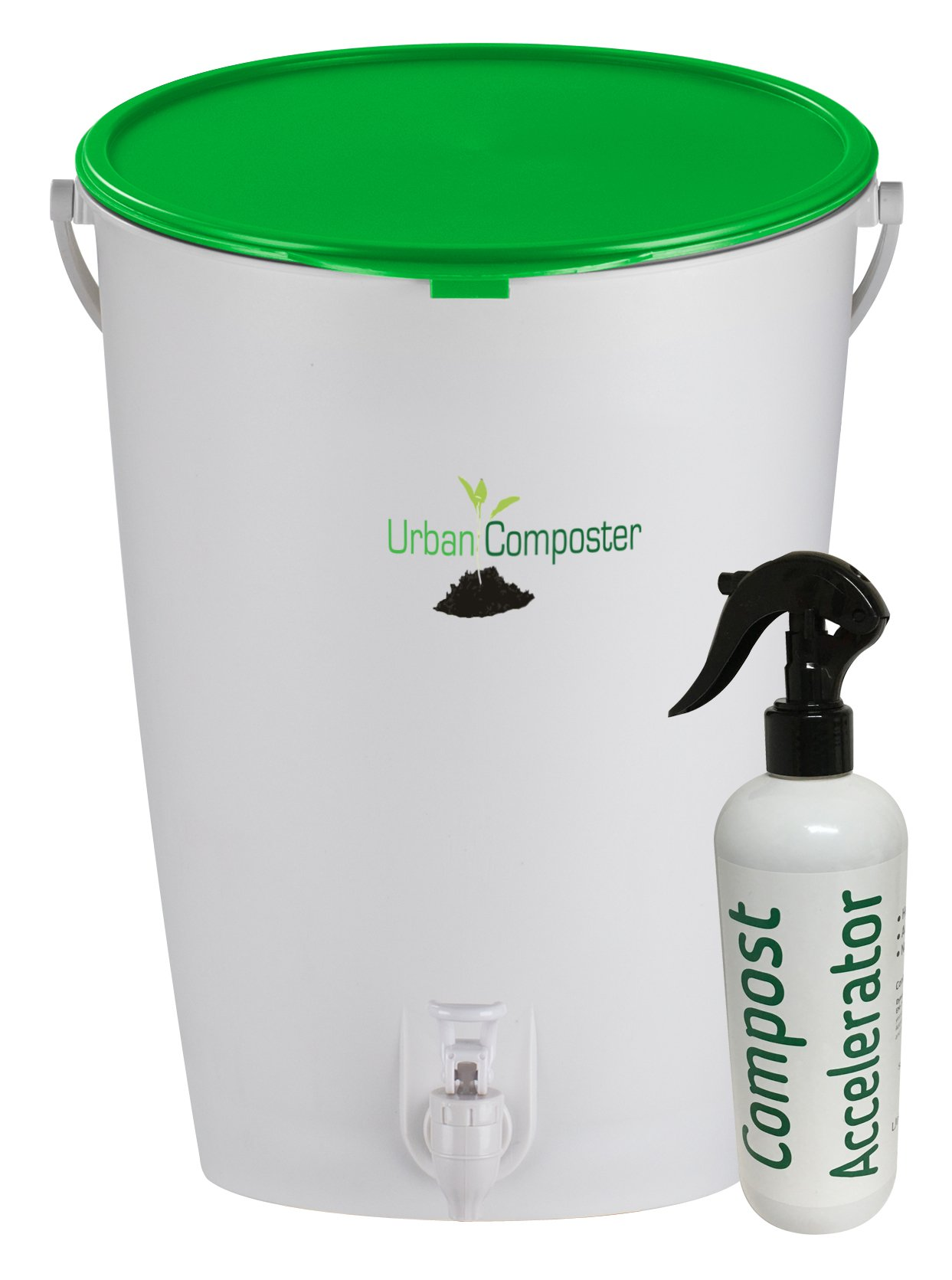 Exaco Trading Company UClarge-G-K G-K Composter and Accelerator Spray Kit, 4 Gallon, Green